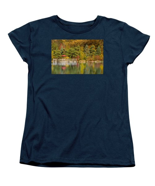 Women's T-Shirt (Standard Cut) featuring the photograph Garden Of Reflection by Sebastian Musial