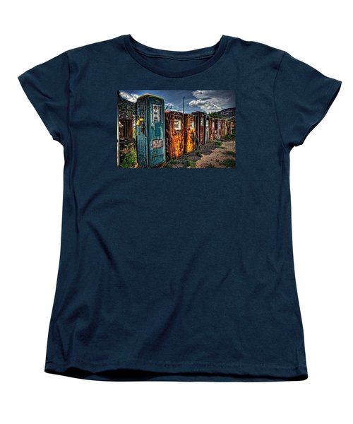 Women's T-Shirt (Standard Cut) featuring the photograph Gasoline Alley by Ken Smith