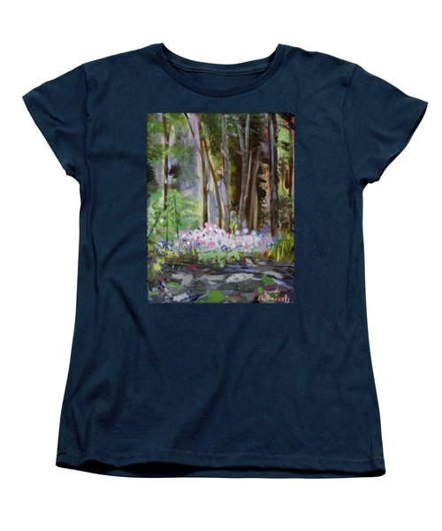 Women's T-Shirt (Standard Cut) featuring the painting Gateway At The Balsams by Michael Daniels
