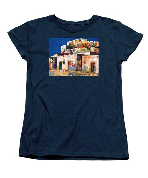 Gateway Into  The  Pueblo Women's T-Shirt (Standard Cut) by Frances Marino