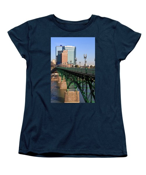 Gay Street Bridge Knoxville Women's T-Shirt (Standard Cut) by Melinda Fawver
