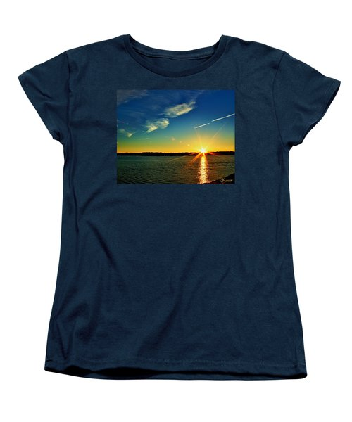 Gc Lake Sunrise Women's T-Shirt (Standard Cut)