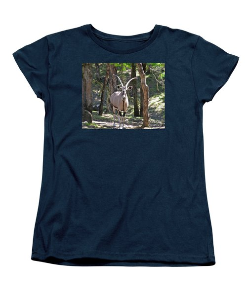 Gemsbok In The Woods Women's T-Shirt (Standard Cut) by CML Brown