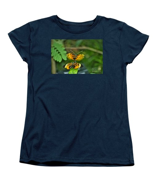 Women's T-Shirt (Standard Cut) featuring the photograph Gentle Butterfly Courtship 03 by Thomas Woolworth