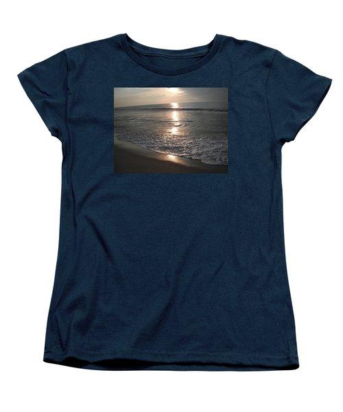 Ocean - Gentle Morning Waves Women's T-Shirt (Standard Cut) by Susan Carella