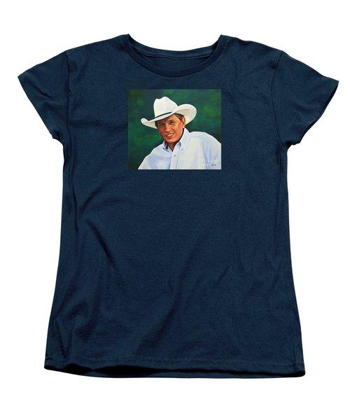 George Strait Women's T-Shirt (Standard Cut) by Paul Meijering