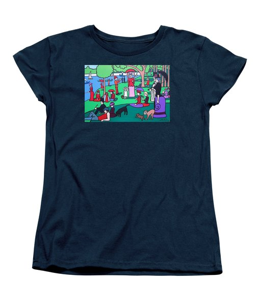 George Seurat- A Cyclops Sunday Afternoon On The Island Of La Grande Jatte Women's T-Shirt (Standard Cut) by Thomas Valentine