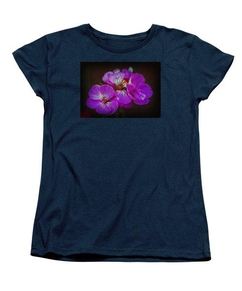 Women's T-Shirt (Standard Cut) featuring the photograph Geranium Blossom by Hanny Heim