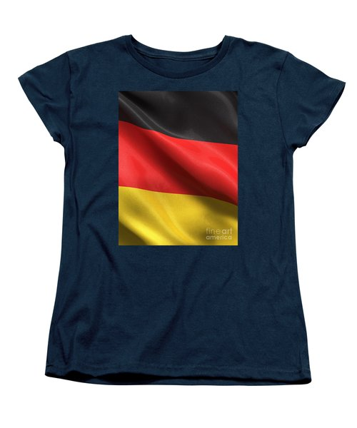 Women's T-Shirt (Standard Cut) featuring the photograph Germany Flag by Carsten Reisinger