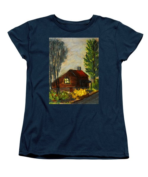 Women's T-Shirt (Standard Cut) featuring the painting Getting Home At Twilight by Michael Daniels