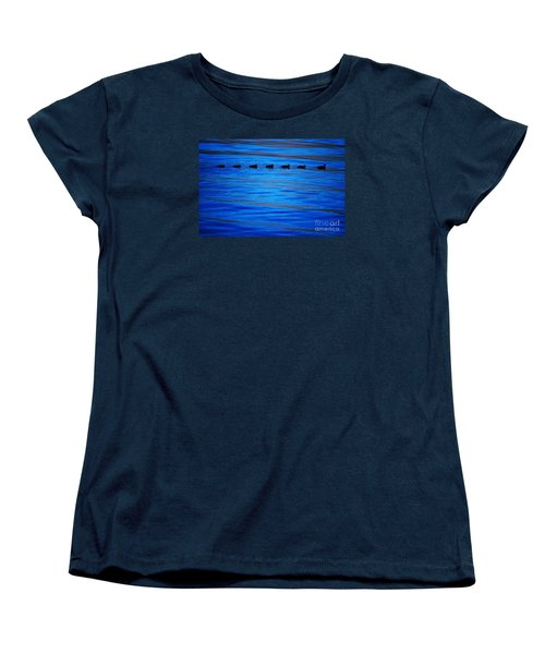 Women's T-Shirt (Standard Cut) featuring the photograph Getting Your Ducks In A Row by Cynthia Lagoudakis
