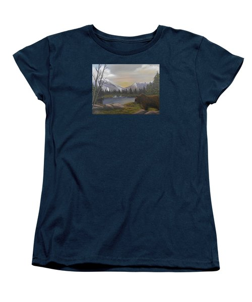 Ghost Bear-the Cascade Grizzly Women's T-Shirt (Standard Cut) by Sheri Keith
