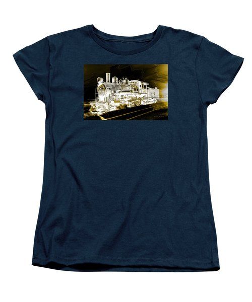 Ghost Train Women's T-Shirt (Standard Cut) by Gunter Nezhoda