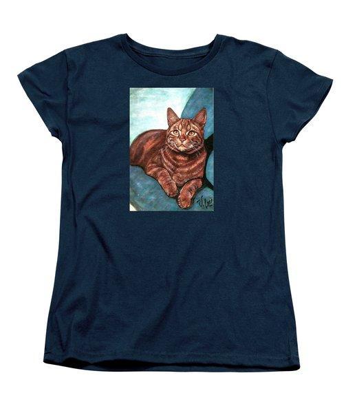 Ginger Tabby Women's T-Shirt (Standard Cut) by VLee Watson
