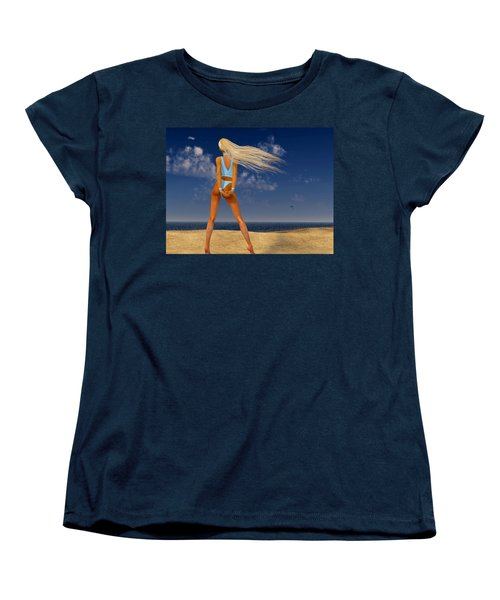 Girl On The Beach... Women's T-Shirt (Standard Cut)