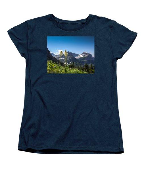 Glacier Grass Women's T-Shirt (Standard Cut) by Aaron Aldrich