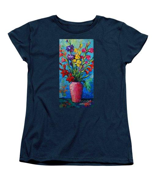 Gladioli In A Vase Women's T-Shirt (Standard Cut)