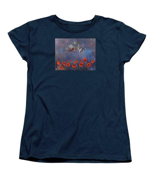 Glenda The Good Witch Has Flying Monkeys Too Women's T-Shirt (Standard Cut) by Randy Burns