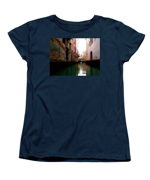 Women's T-Shirt (Standard Cut) featuring the photograph Gliding Along The Canal  by Micki Findlay