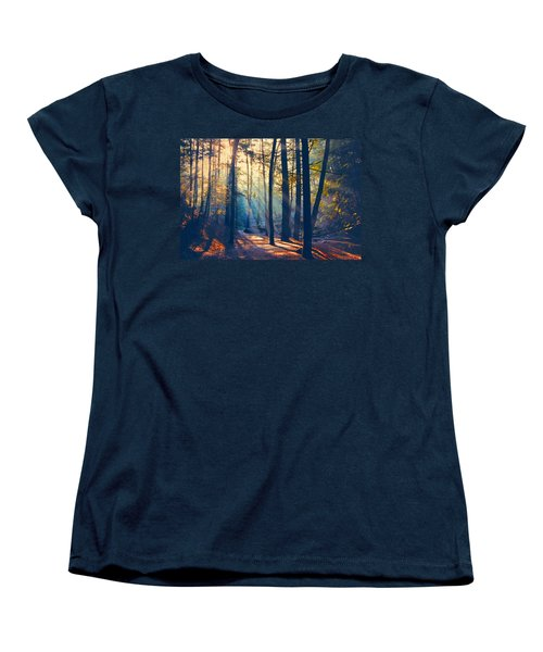 Glorious Forest Morning Women's T-Shirt (Standard Cut) by Diane Alexander