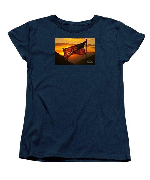 Glory At Sunset Women's T-Shirt (Standard Cut) by Michael Cinnamond