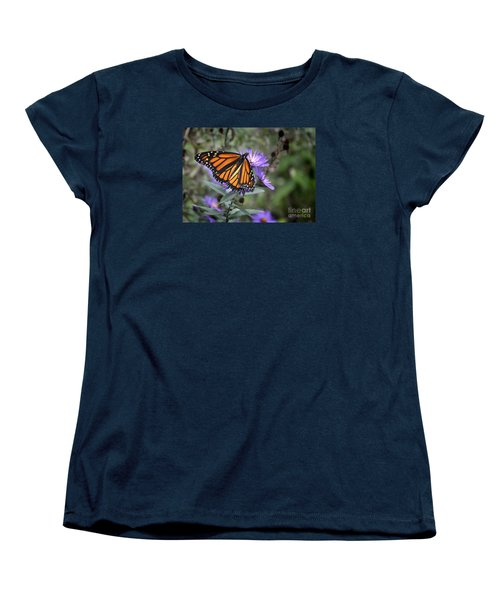 Women's T-Shirt (Standard Cut) featuring the photograph Glowing Butterfly by Nava Thompson