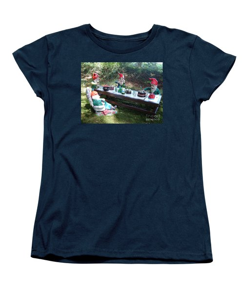 Gnome Cooking Women's T-Shirt (Standard Cut) by Richard Brookes