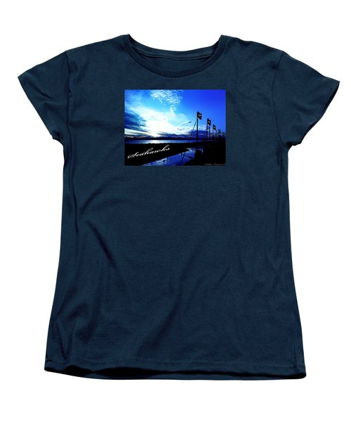 Women's T-Shirt (Standard Cut) featuring the photograph Go Seahawks by Eddie Eastwood