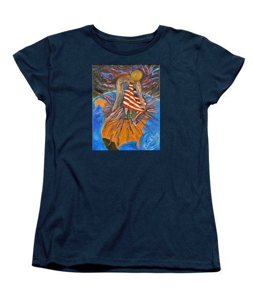 Women's T-Shirt (Standard Cut) featuring the painting God Shed His Grace On Thee by Cassie Sears