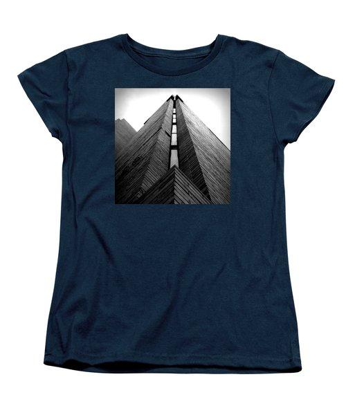 Goddard Stair Tower - Black And White Women's T-Shirt (Standard Cut) by Joseph Skompski