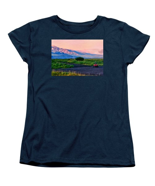 Going To School Cold Bay Style Women's T-Shirt (Standard Cut) by Michael Pickett