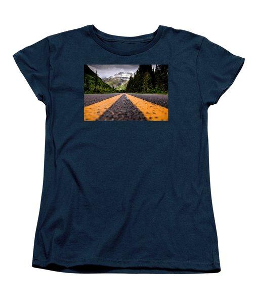 Going To The Sun Women's T-Shirt (Standard Cut) by Aaron Aldrich