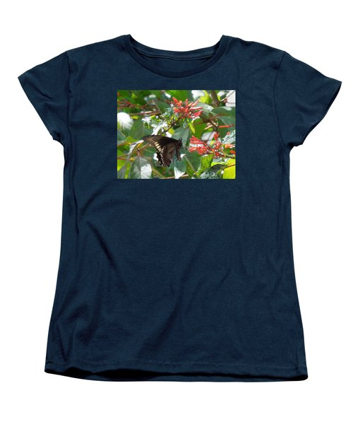 Women's T-Shirt (Standard Cut) featuring the photograph Gold Rim Swallowtail by Ron Davidson