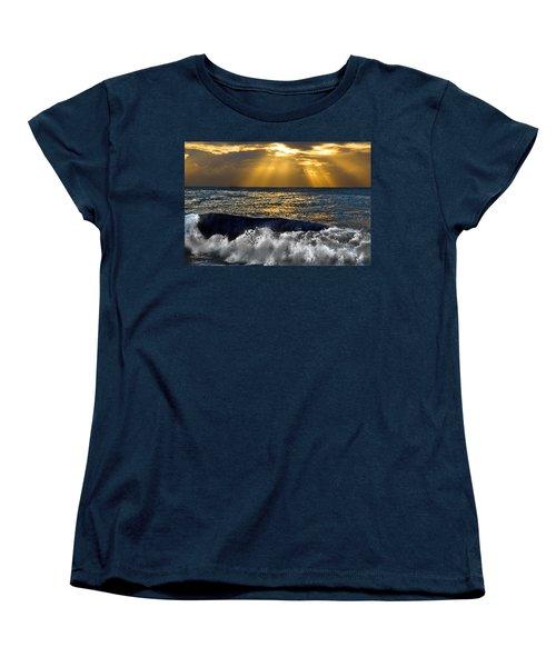 Golden Eye Of The Morning Women's T-Shirt (Standard Cut) by Miroslava Jurcik
