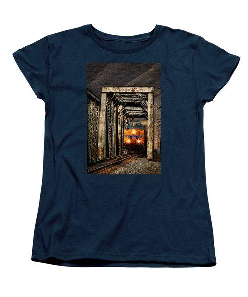 Women's T-Shirt (Standard Cut) featuring the photograph Golden Hour Crossing by Ken Smith
