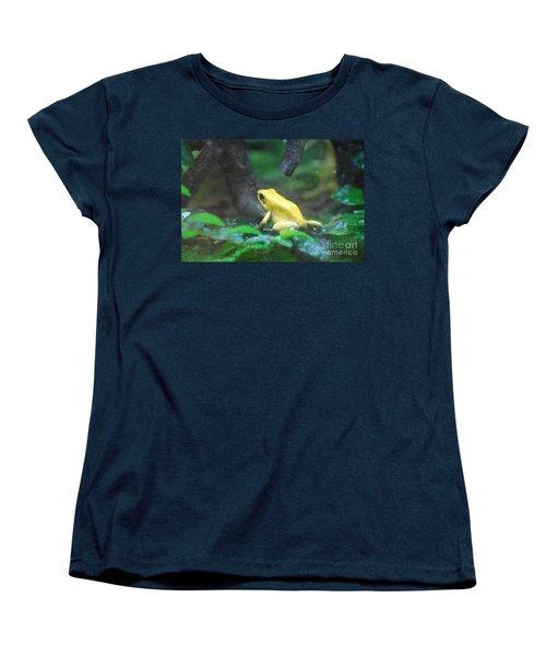 Golden Poison Frog Women's T-Shirt (Standard Cut) by DejaVu Designs