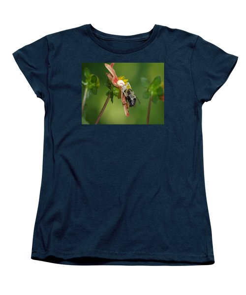 Women's T-Shirt (Standard Cut) featuring the photograph Goldenrod Spider by James Peterson