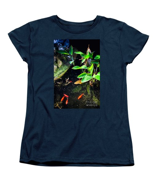 Women's T-Shirt (Standard Cut) featuring the photograph Goldfish In Pond by Silvia Ganora