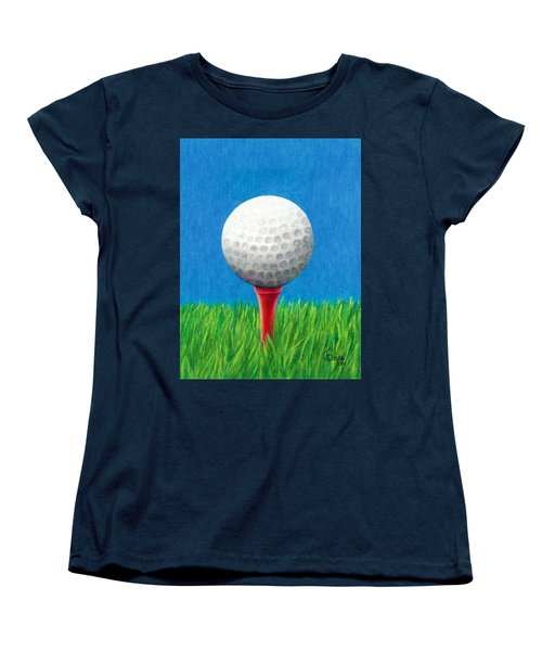 Golf Ball And Tee Women's T-Shirt (Standard Cut)
