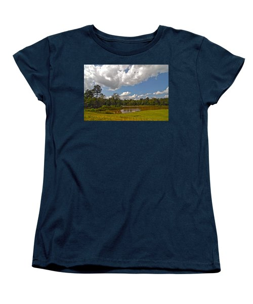 Women's T-Shirt (Standard Cut) featuring the photograph Golf Course Landscape by Alex Grichenko
