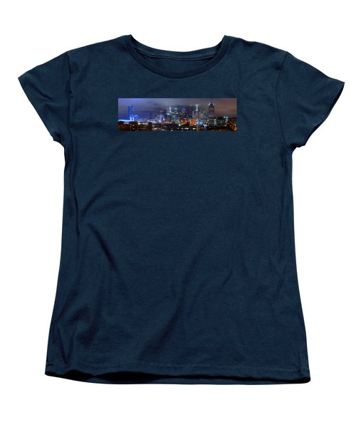 Gotham City - Los Angeles Skyline Downtown At Night Women's T-Shirt (Standard Cut) by Jon Holiday