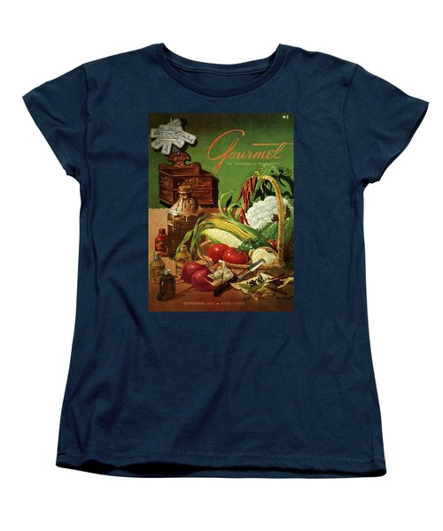 Gourmet Cover Featuring A Variety Of Vegetables Women's T-Shirt (Standard Cut) by Henry Stahlhut