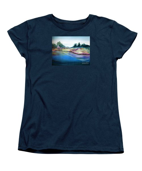 Gowrie Creek Spring Women's T-Shirt (Standard Cut) by Therese Alcorn