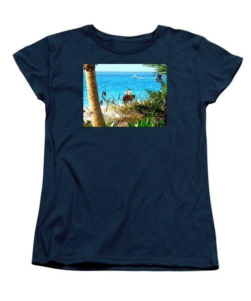 Women's T-Shirt (Standard Cut) featuring the photograph Grace Bay Riding by Patti Whitten