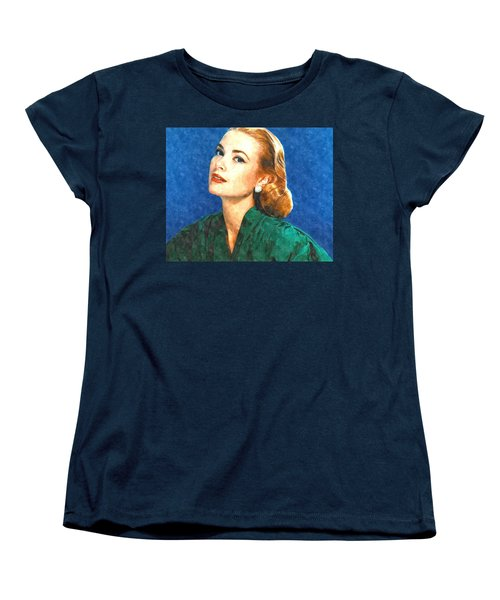 Grace Kelly Painting Women's T-Shirt (Standard Cut) by Gianfranco Weiss