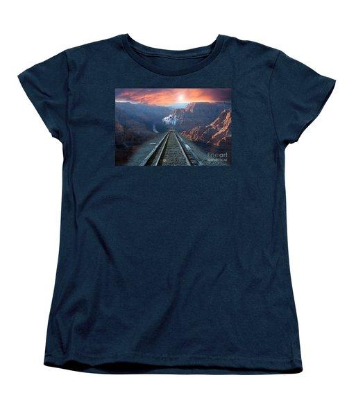 Women's T-Shirt (Standard Cut) featuring the photograph Grand Canyon Collage by Gunter Nezhoda
