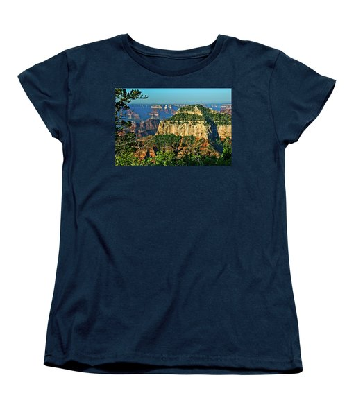 Women's T-Shirt (Standard Cut) featuring the photograph Grand Canyon Peak Angel Point by Bob and Nadine Johnston