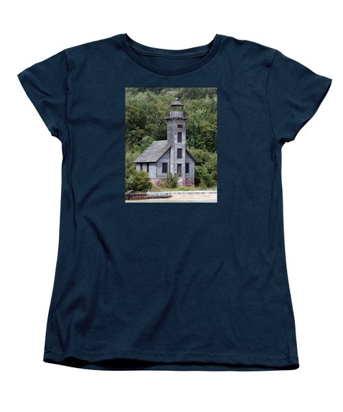 Grand Island East Channel Lighthouse Women's T-Shirt (Standard Cut) by George Jones
