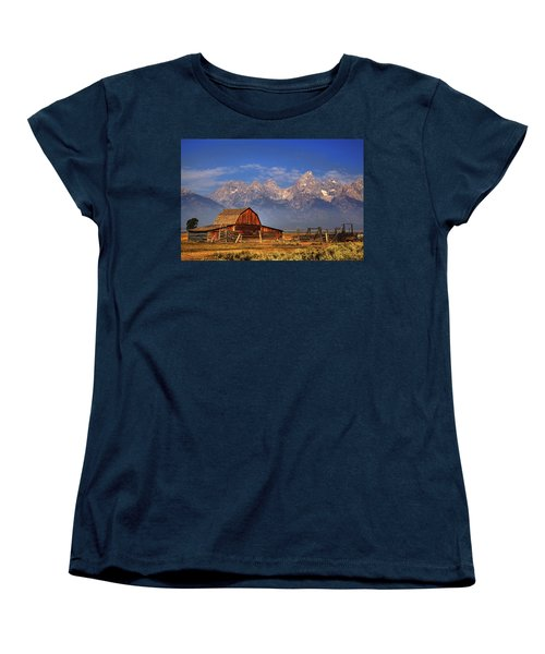 Grand Tetons From Moulton Barn Women's T-Shirt (Standard Cut) by Alan Vance Ley