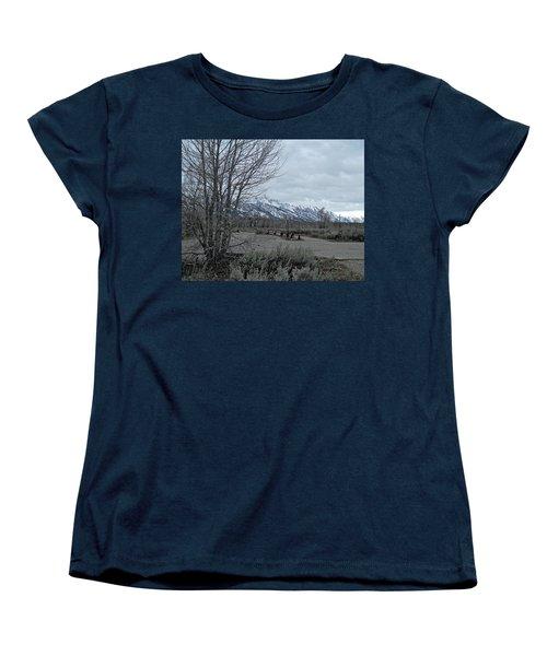 Grand Tetons Landscape Women's T-Shirt (Standard Cut) by Michele Myers